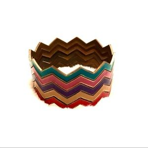 🌺2/15$ Set of 5 stackable bangles zigzag bracelet